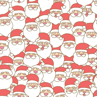 Santa claus seamless pattern background