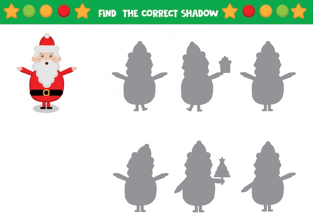 Santa claus shadow