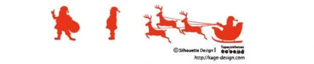 Santa claus silhouette.