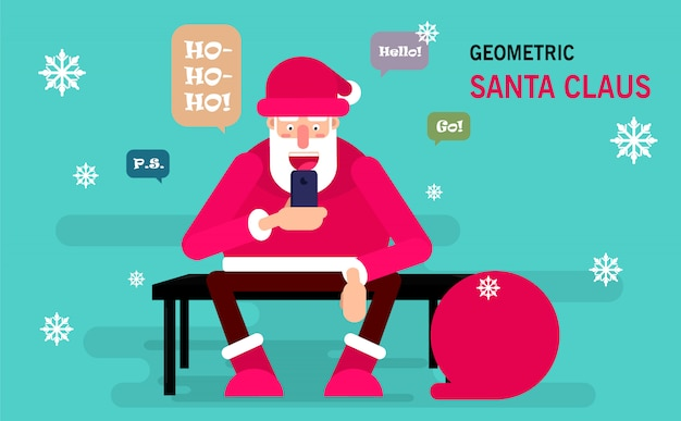 Santa claus sitting on a bench