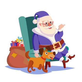 Santa claus sitting on chair