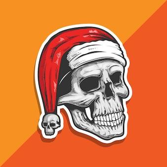 サンタクロースの頭蓋骨。