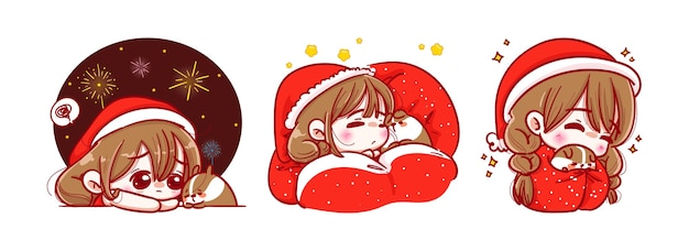 サンタクロースは寝てリラックス