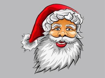 Дед Мороз улыбается рождественская открытка