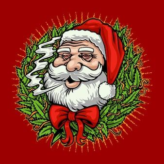 산타 클로스 흡연 대마초 마리화나 크리스마스
