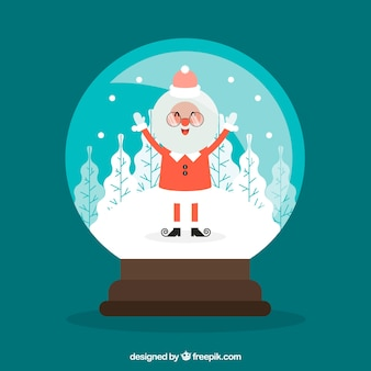 Santa claus snowball background