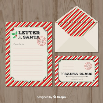 Santa claus stamp letter template