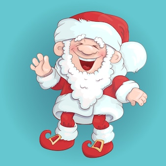 Santa claus stand and smile.
