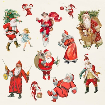 Santa claus traditional character set