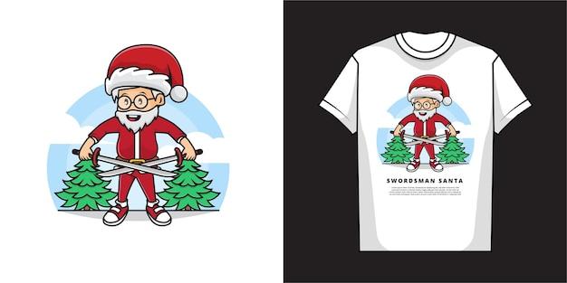 サンタクロースのtシャツのデザイン