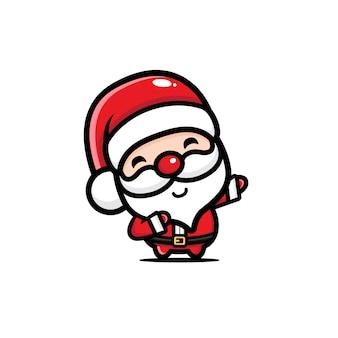 Санта клаус вектор дизайн мазок поза