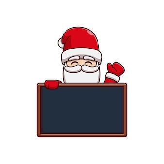 Santa claus vector illustration design on blackboard