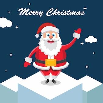 Santa Claus wishing on bulding