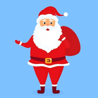 Santa claus with a bag illustration