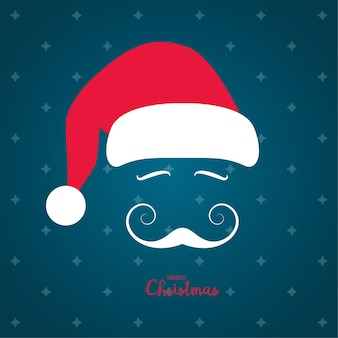 Santa claus with a beautiful mustache