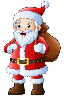 Санта-клаус с переносным мешком