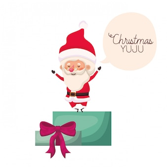 Santa claus with gift box avatar character