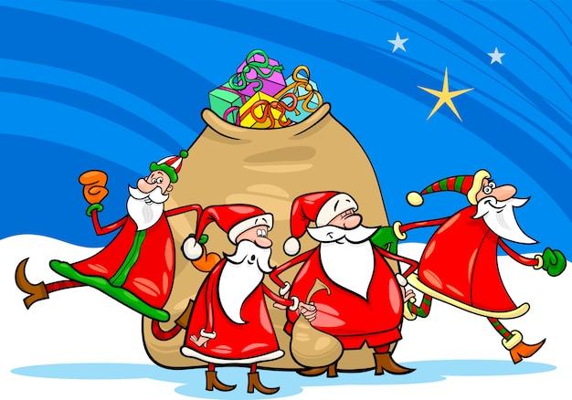 サンタクロース、プレゼント、漫画