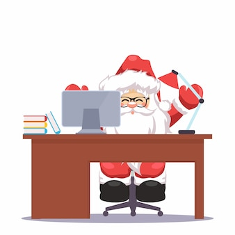 Santa claus  on your christmas desk