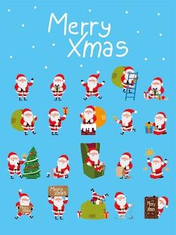 Санта-клаусы на рождество