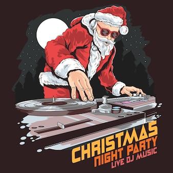 Рождественская вечеринка santa dj