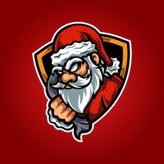 サンタeスポーツマスコットロゴ