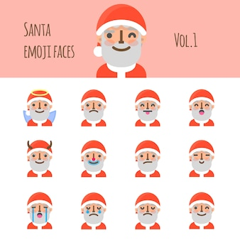 Santa emoji faces