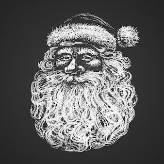 Santa face illustration