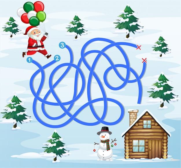 Santa finding way home