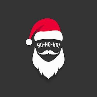 Санта шляпа и борода шаблон.