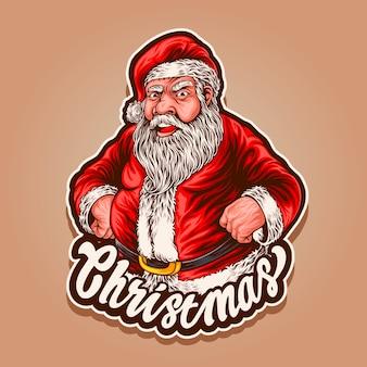 サンタはクリスマスの準備ができています