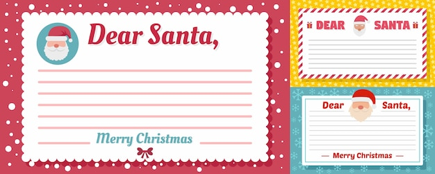 Santa letter banner set