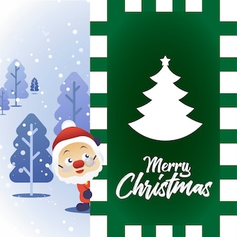 Santa merry christmas card