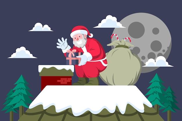 지붕 위의 산타 - 산타 활동