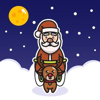 Санта-олень