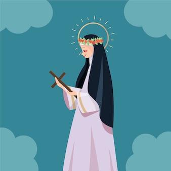 Illustrazione di santa rosa de lima