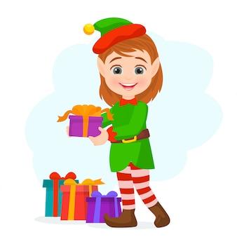 Santa's elves preparing for christmas