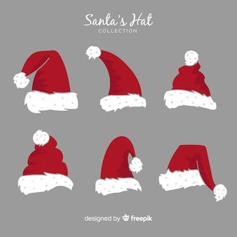 手描きのスタイルでサンタの帽子クリスマスコレクション