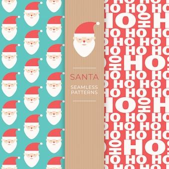 Santa seamless patterns