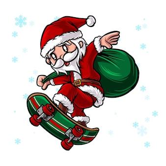 산타 스케이트 보드