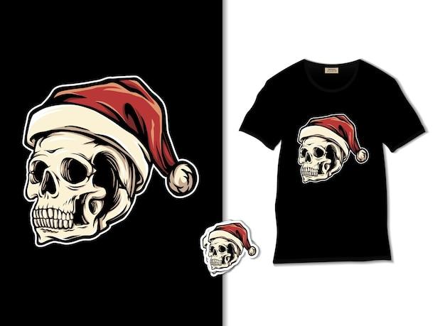 Santa skull illustration