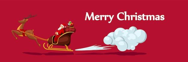 Santa in sleight fast