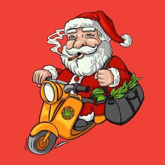 산타 흡연 마리화나 크리스마스 베스파