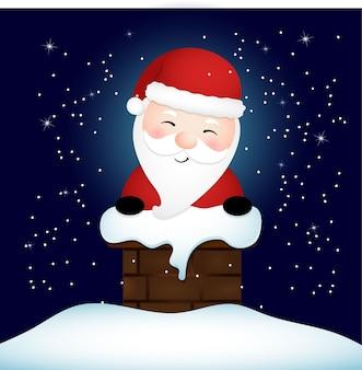 굴뚝에 갇힌 산타