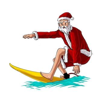 산타 여름 서핑