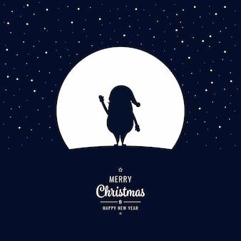 겨울 크리스마스 밤에 산타 swave