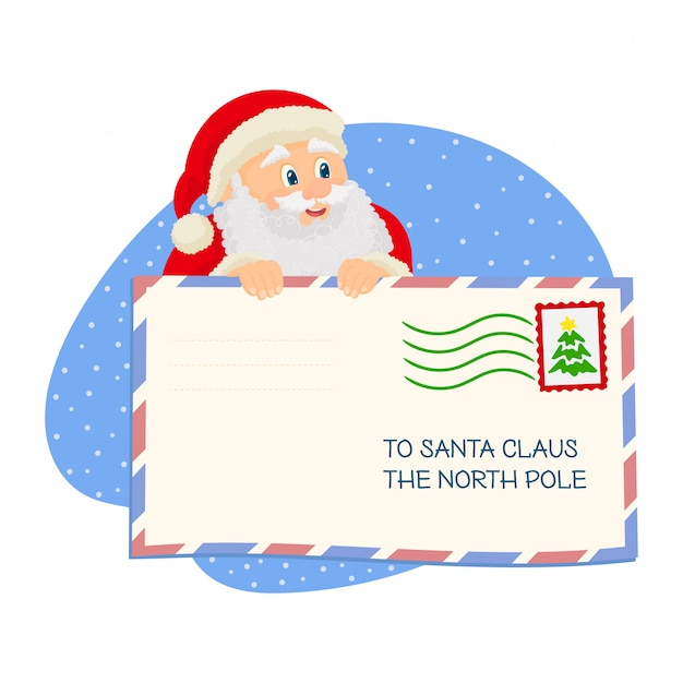 Santa with christmas mail