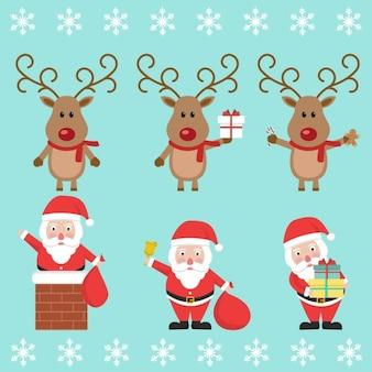 Santa con una renna