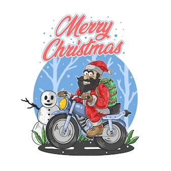 Вектор иллюстрации santa веселый рождество