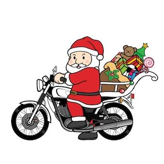 サンタクロースのオートバイ